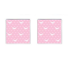 Wallpaper Same Palette Pink Star Bird Animals Cufflinks (square) by Alisyart