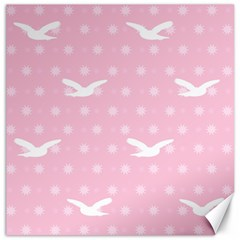 Wallpaper Same Palette Pink Star Bird Animals Canvas 20  X 20   by Alisyart