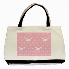 Wallpaper Same Palette Pink Star Bird Animals Basic Tote Bag (two Sides) by Alisyart