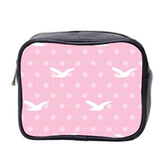 Wallpaper Same Palette Pink Star Bird Animals Mini Toiletries Bag 2 Side