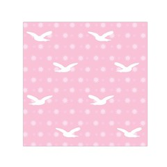 Wallpaper Same Palette Pink Star Bird Animals Small Satin Scarf (square)