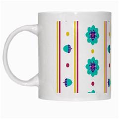 Beans Flower Floral Blue White Mugs by Alisyart