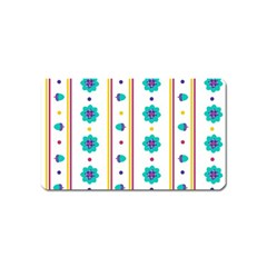 Beans Flower Floral Blue Magnet (name Card) by Alisyart