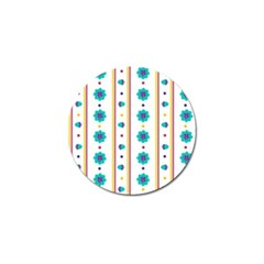 Beans Flower Floral Blue Golf Ball Marker (4 Pack) by Alisyart