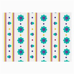 Beans Flower Floral Blue Large Glasses Cloth (2 Side) by Alisyart