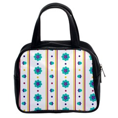 Beans Flower Floral Blue Classic Handbags (2 Sides) by Alisyart