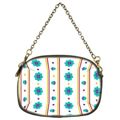 Beans Flower Floral Blue Chain Purses (one Side)  by Alisyart
