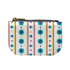 Beans Flower Floral Blue Mini Coin Purses