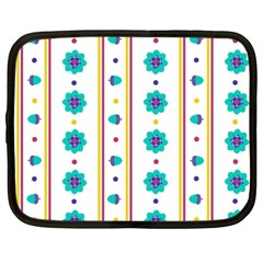 Beans Flower Floral Blue Netbook Case (xxl)  by Alisyart