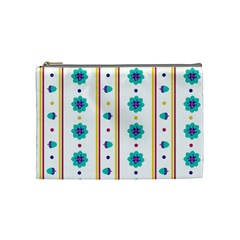Beans Flower Floral Blue Cosmetic Bag (medium)  by Alisyart