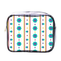 Beans Flower Floral Blue Mini Toiletries Bags by Alisyart