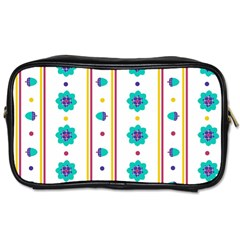 Beans Flower Floral Blue Toiletries Bags
