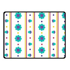 Beans Flower Floral Blue Fleece Blanket (small) by Alisyart
