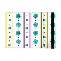 Beans Flower Floral Blue Apple Ipad Mini Flip Case by Alisyart