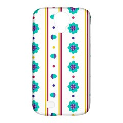 Beans Flower Floral Blue Samsung Galaxy S4 Classic Hardshell Case (pc+silicone)