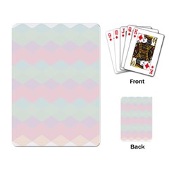 Argyle Triangle Plaid Blue Pink Red Blue Orange Playing Card by Alisyart