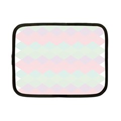 Argyle Triangle Plaid Blue Pink Red Blue Orange Netbook Case (small)  by Alisyart