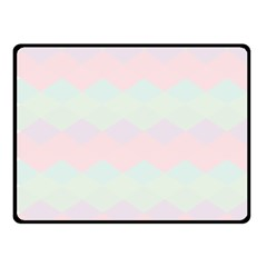 Argyle Triangle Plaid Blue Pink Red Blue Orange Fleece Blanket (small)