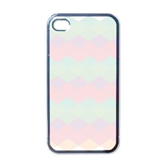 Argyle Triangle Plaid Blue Pink Red Blue Orange Apple Iphone 4 Case (black) by Alisyart