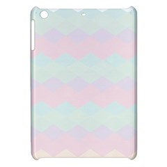 Argyle Triangle Plaid Blue Pink Red Blue Orange Apple Ipad Mini Hardshell Case by Alisyart