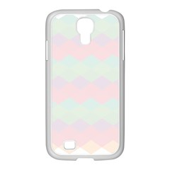 Argyle Triangle Plaid Blue Pink Red Blue Orange Samsung Galaxy S4 I9500/ I9505 Case (white) by Alisyart