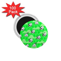 Animals Cow Home Sweet Tree Green 1 75  Magnets (100 Pack)  by Alisyart