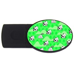 Animals Cow Home Sweet Tree Green Usb Flash Drive Oval (2 Gb)