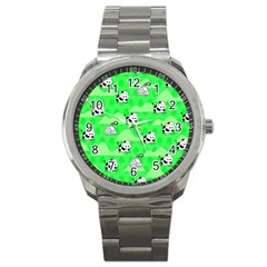 Animals Cow Home Sweet Tree Green Sport Metal Watch by Alisyart