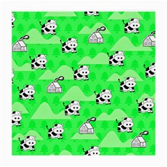 Animals Cow Home Sweet Tree Green Medium Glasses Cloth