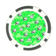 Animals Cow Home Sweet Tree Green Poker Chip Card Guard by Alisyart