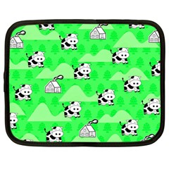 Animals Cow Home Sweet Tree Green Netbook Case (large)
