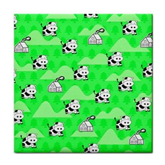 Animals Cow Home Sweet Tree Green Face Towel by Alisyart