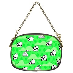 Animals Cow Home Sweet Tree Green Chain Purses (two Sides)