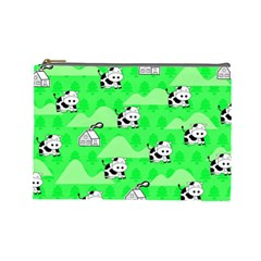 Animals Cow Home Sweet Tree Green Cosmetic Bag (large)