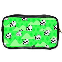 Animals Cow Home Sweet Tree Green Toiletries Bags 2 Side