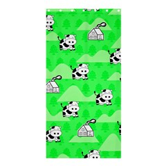 Animals Cow Home Sweet Tree Green Shower Curtain 36  X 72  (stall)  by Alisyart