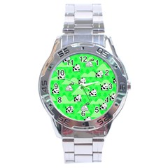 Animals Cow Home Sweet Tree Green Stainless Steel Analogue Watch by Alisyart