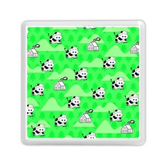 Animals Cow Home Sweet Tree Green Memory Card Reader (square)  by Alisyart