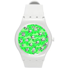 Animals Cow Home Sweet Tree Green Round Plastic Sport Watch (m) by Alisyart