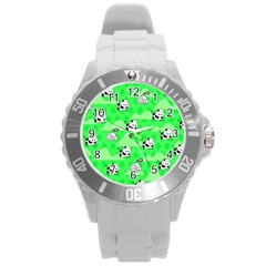 Animals Cow Home Sweet Tree Green Round Plastic Sport Watch (l) by Alisyart