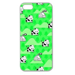 Animals Cow Home Sweet Tree Green Apple Seamless Iphone 5 Case (clear) by Alisyart