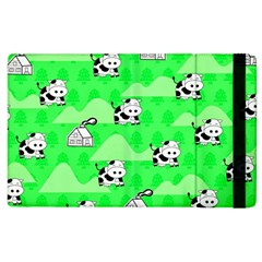 Animals Cow Home Sweet Tree Green Apple Ipad 3/4 Flip Case by Alisyart