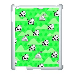 Animals Cow Home Sweet Tree Green Apple Ipad 3/4 Case (white) by Alisyart