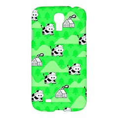 Animals Cow Home Sweet Tree Green Samsung Galaxy S4 I9500/i9505 Hardshell Case by Alisyart