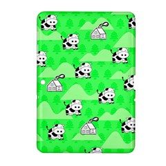 Animals Cow Home Sweet Tree Green Samsung Galaxy Tab 2 (10 1 ) P5100 Hardshell Case  by Alisyart