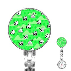 Animals Cow Home Sweet Tree Green Stainless Steel Nurses Watch by Alisyart