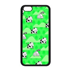 Animals Cow Home Sweet Tree Green Apple Iphone 5c Seamless Case (black) by Alisyart