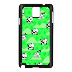 Animals Cow Home Sweet Tree Green Samsung Galaxy Note 3 N9005 Case (black) by Alisyart