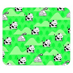 Animals Cow Home Sweet Tree Green Double Sided Flano Blanket (small)  by Alisyart
