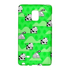 Animals Cow Home Sweet Tree Green Galaxy Note Edge by Alisyart